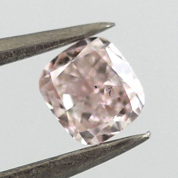 Fancy Light Pink Diamond, Cushion, 0.27 carat, SI2