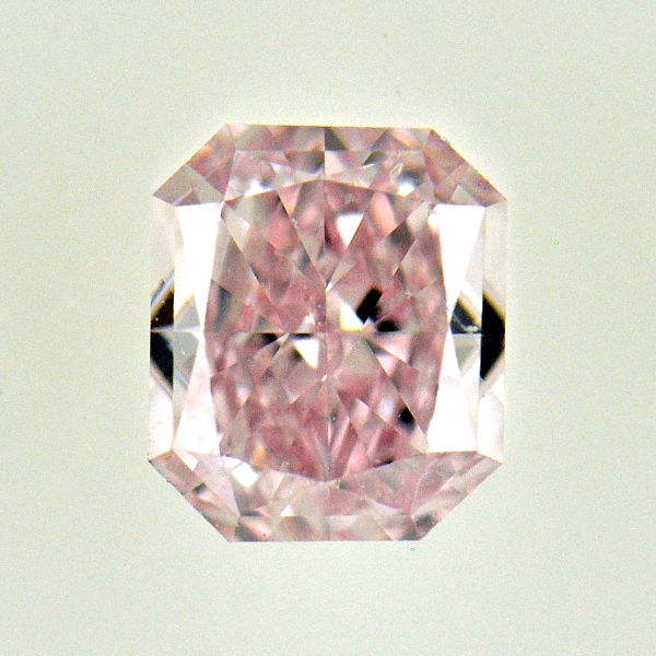 Fancy Light Pink Diamond, Radiant, 0.34 carat, SI1