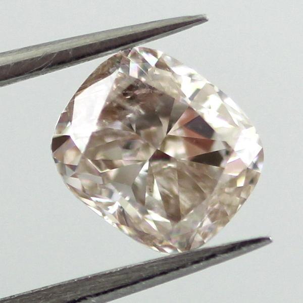 Fancy Light Pinkish Brown Diamond, Cushion, 1.01 carat - B