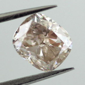 Fancy Light Pinkish Brown Diamond, Cushion, 1.01 carat