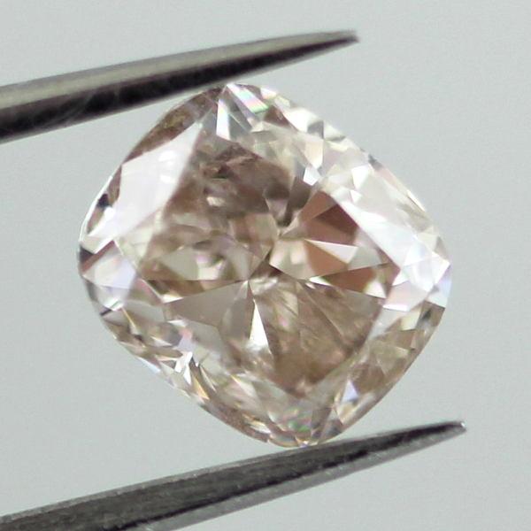 Fancy Light Pinkish Brown Diamond, Cushion, 1.01 carat