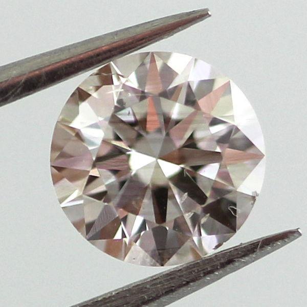 Fancy Light Pinkish Brown Diamond, Round, 0.51 carat, SI1