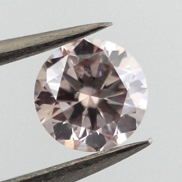 Fancy Light Pinkish Brown Diamond, Round, 0.51 carat