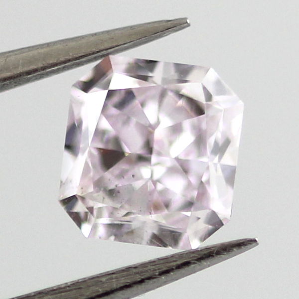 Fancy Light Pinkish Purple Diamond, Radiant, 0.55 carat, SI1