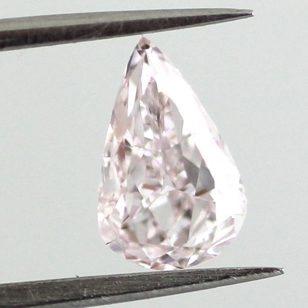 Fancy Light Purplish Pink Diamond, Pear, 0.70 carat, SI2