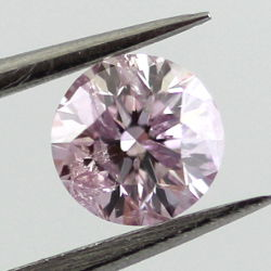 Fancy Light Purplish Pink, 0.37 carat