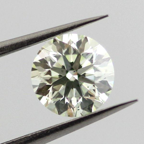 Fancy Light Yellow Green Diamond, Round, 0.50 carat, SI2