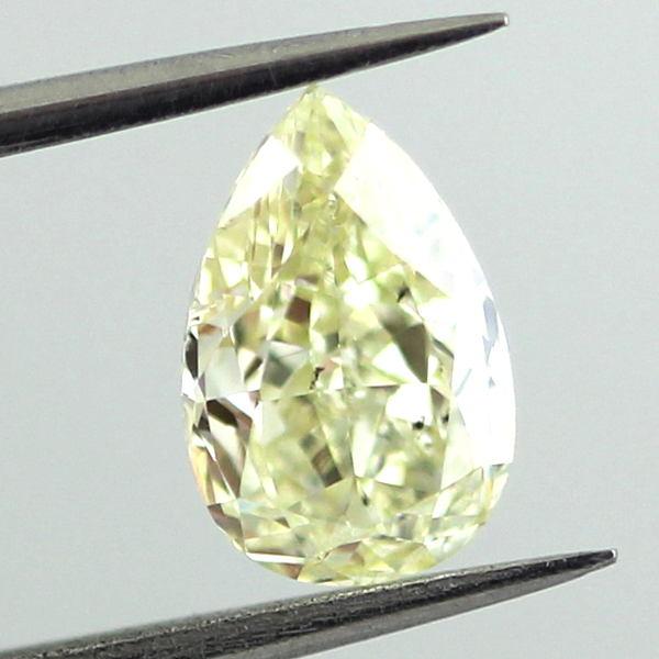 Fancy Light Yellow Diamond, Pear, 1.02 carat, SI2
