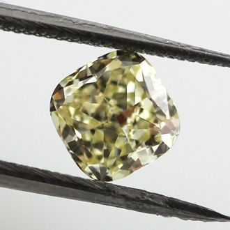 Fancy Light Yellow Diamond, Cushion, 1.01 carat, SI1