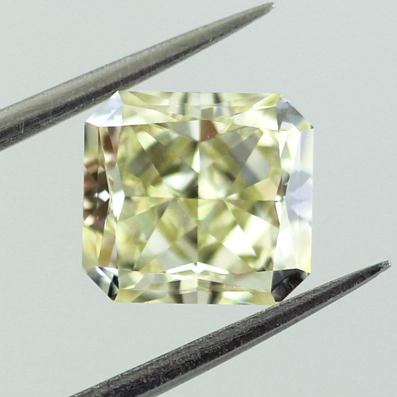 Fancy Light Yellow Diamond, Radiant, 2.03 carat, VS1