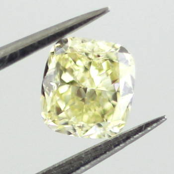 Fancy Light Yellow Diamond, Cushion, 0.41 carat, VS1 - Thumbnail