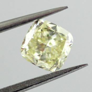 Fancy Light Yellow, 0.64 carat, VVS2