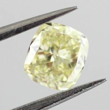 Fancy Light Yellow Diamond, Cushion, 0.53 carat, SI1 - Thumbnail