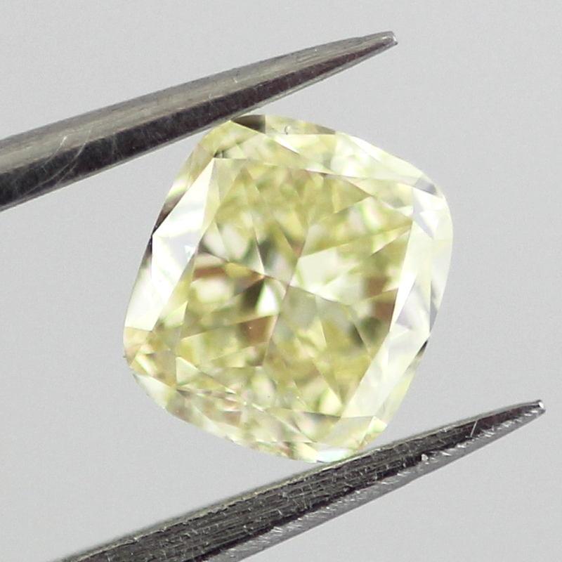 Fancy Light Yellow Diamond, Cushion, 0.53 carat, SI1