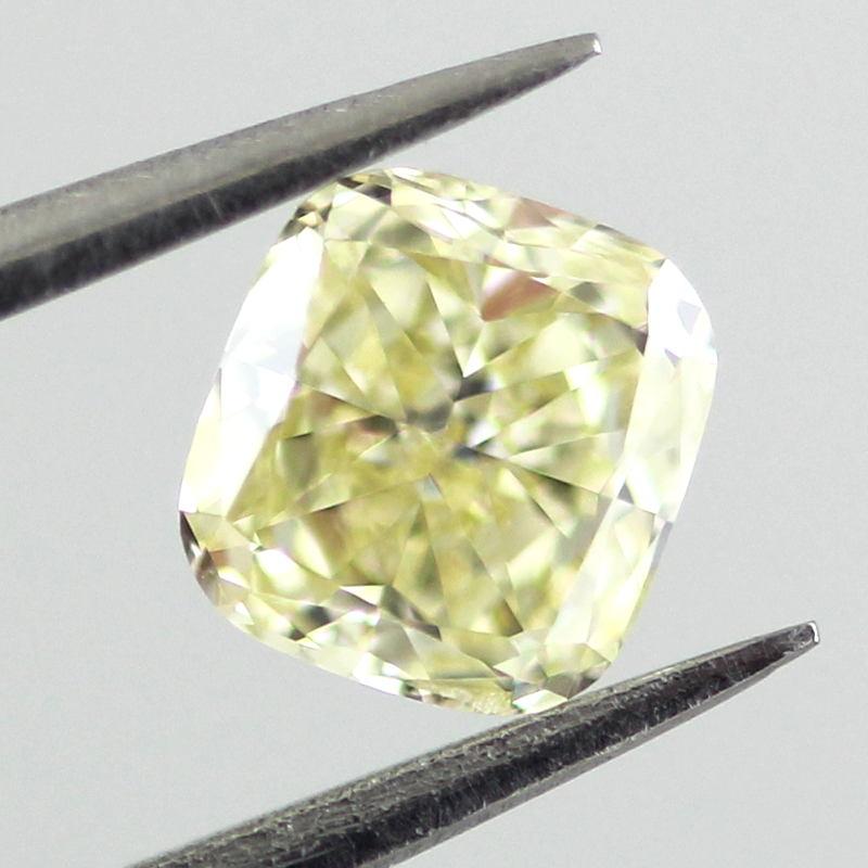 Fancy Light Yellow Diamond, Cushion, 0.46 carat, IF