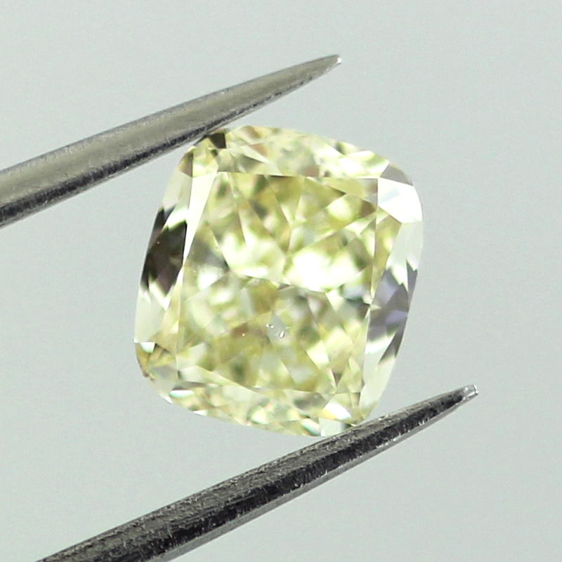 Fancy Light Yellow Diamond, Cushion, 0.92 carat, VS2 - C Thumbnail