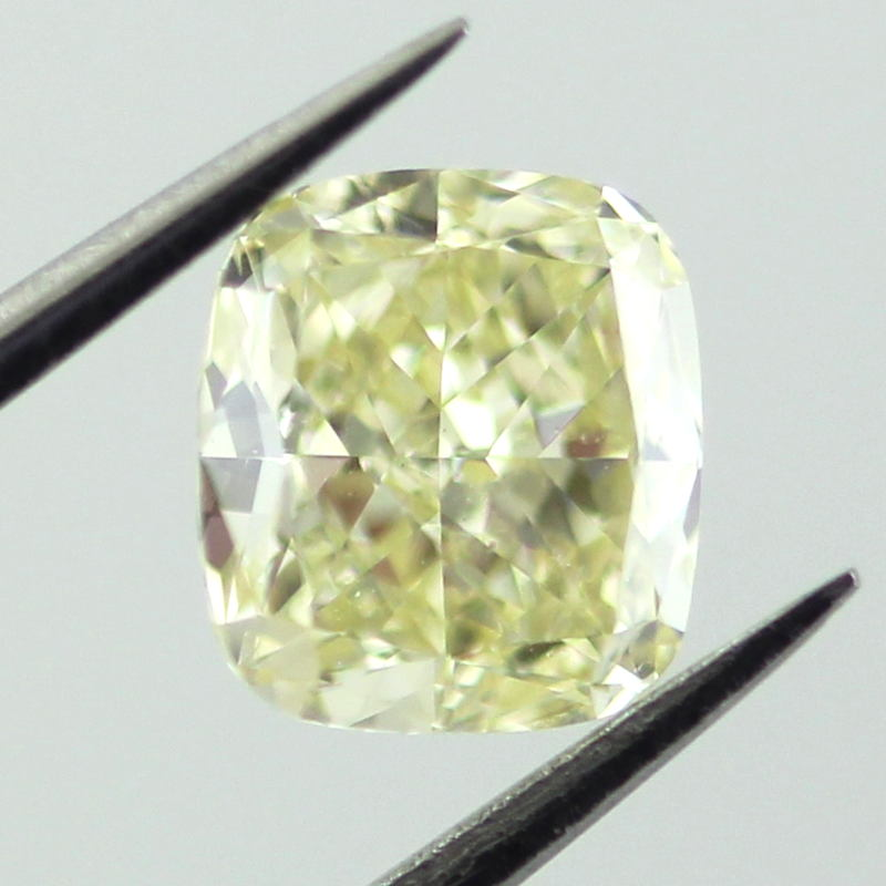 Fancy Light Yellow Diamond, Cushion, 0.92 carat, VS2 - Thumbnail