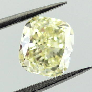 Fancy Light Yellow Diamond, Cushion, 0.91 carat, VVS2 - Thumbnail