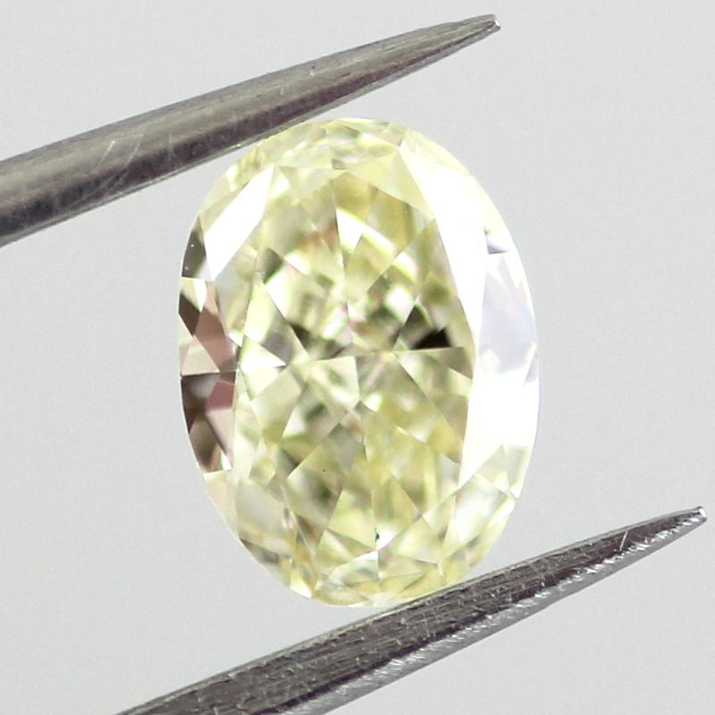 Fancy Light Yellow Diamond, Oval, 0.53 carat, VVS1- C