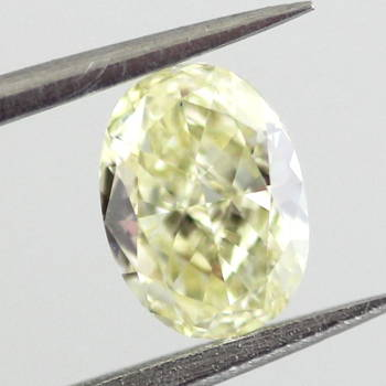 Fancy Light Yellow Diamond, Oval, 0.53 carat, VVS1 - Thumbnail
