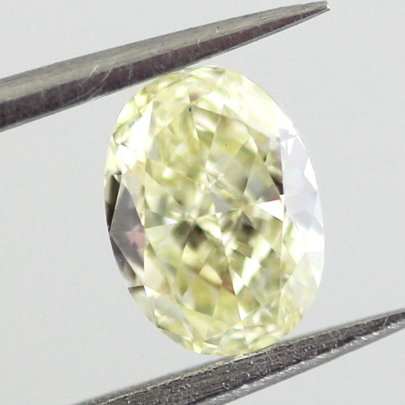 Fancy Light Yellow Diamond, Oval, 0.53 carat, VVS1