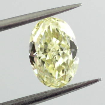 Fancy Light Yellow Diamond, Oval, 0.61 carat, VS2 - Thumbnail