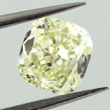 Fancy Light Yellow Diamond, Cushion, 1.01 carat, VS2 - Thumbnail