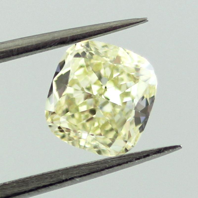 Fancy Light Yellow Diamond, Cushion, 1.01 carat, VS2
