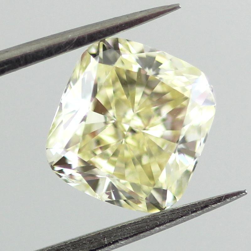 Fancy Light Yellow Diamond, Cushion, 1.71 carat, SI1