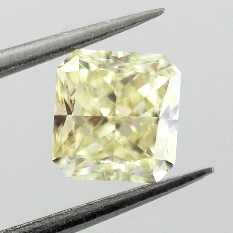 Fancy Light Yellow Diamond, Radiant, 1.04 carat, VS1