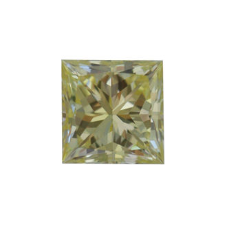 Fancy Light Yellow Diamond, Princess, 0.52 carat, VVS2