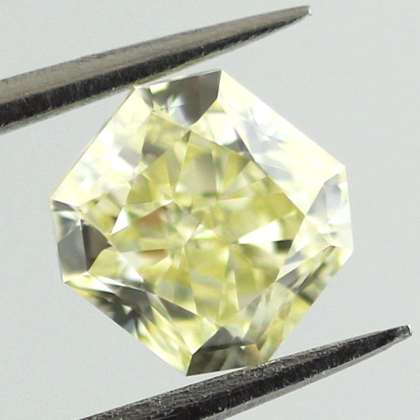 Fancy Light Yellow Diamond, Radiant, 1.00 carat, VS1
