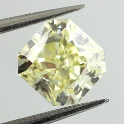 Fancy Light Yellow, 1.01 carat, VVS2