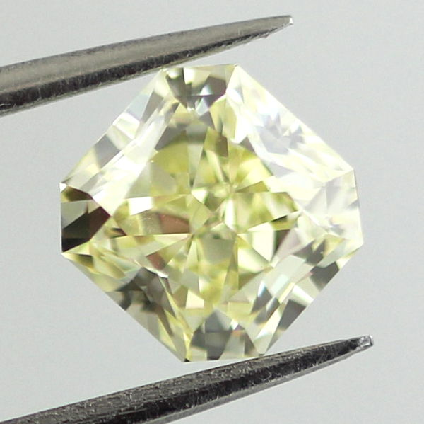 Fancy Light Yellow Diamond, Radiant, 1.01 carat, VVS2