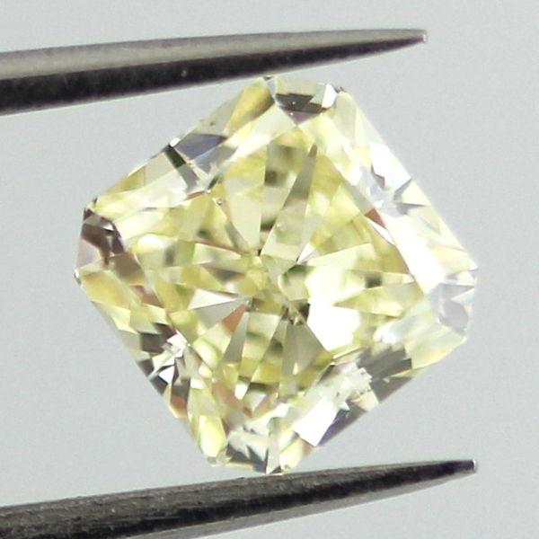 Fancy Light Yellow Diamond, Radiant, 1.00 carat, SI1