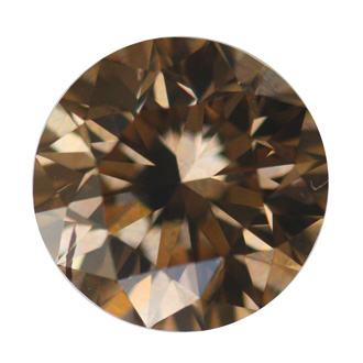 Fancy Orange Brown Diamond, Round, 2.05 carat, SI2