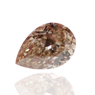 Fancy Orange Brown Diamond, Pear, 0.80 carat, SI2