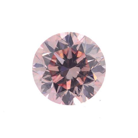 Fancy Orangy Pink Argyle Diamond, Round, 0.25 carat, VVS2