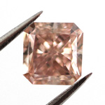 Fancy Orangy Pink, 0.56 carat, VS2