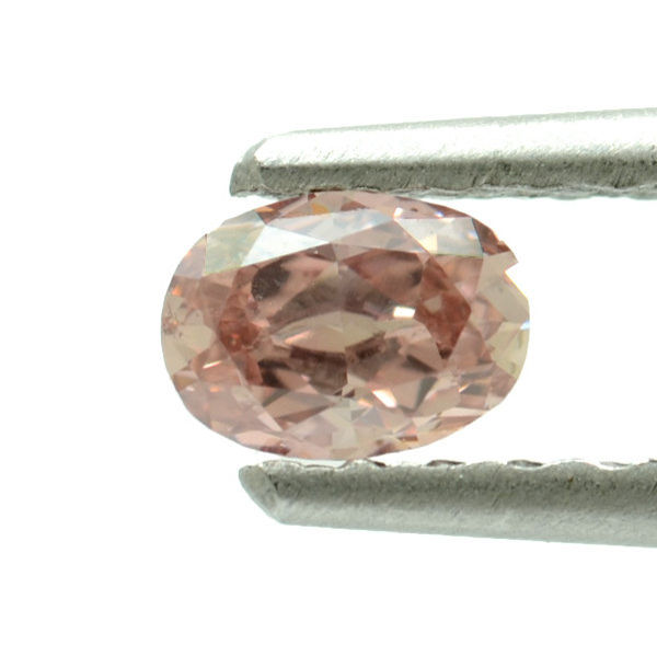 Fancy Orangy Pink Diamond, Oval, 0.26 carat, SI1