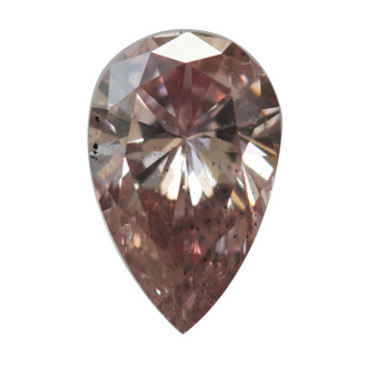 Fancy Orangy Pink Diamond, Pear, 0.42 carat