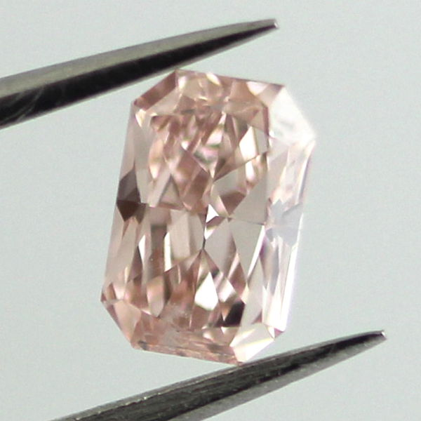 Fancy Orangy Pink Diamond, Radiant, 0.51 carat, VS1