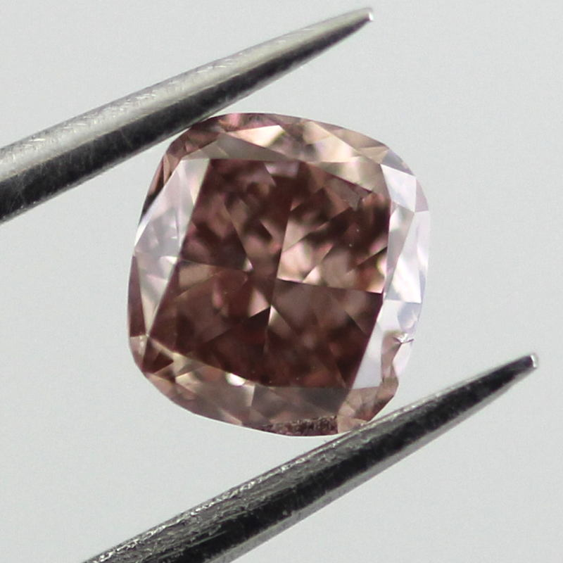 Fancy Pink Brown Diamond, Cushion, 0.42 carat