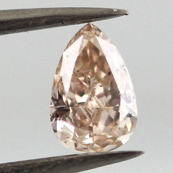Fancy Pink Brown Diamond, Pear, 0.46 carat, SI1 - B