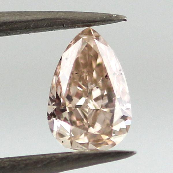 Fancy Pink Brown Diamond, Pear, 0.46 carat, SI1 - C