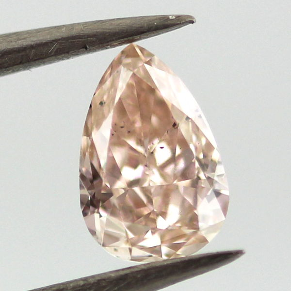 Fancy Pink Brown Diamond, Pear, 0.46 carat, SI1
