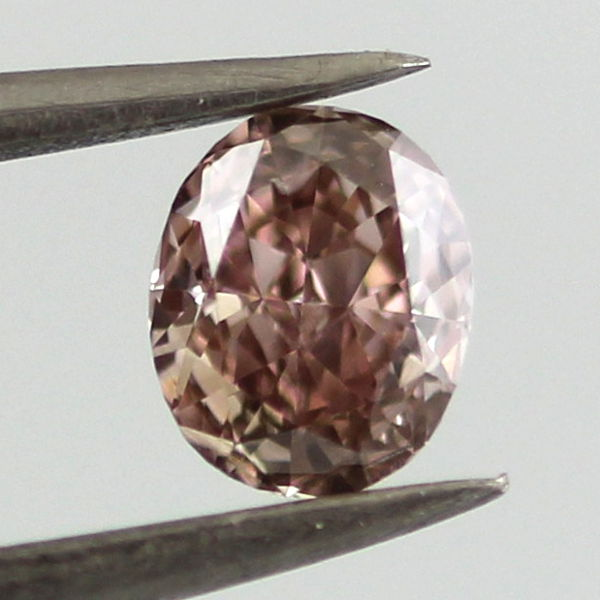 Fancy Pink Brown Diamond, Oval, 0.42 carat, SI1 - B