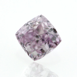 Fancy Pink Purple Diamond, Cushion, 0.20 carat, VS2