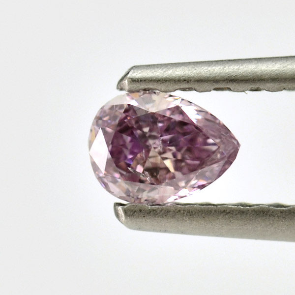 Fancy Pink Purple Diamond, Pear, 0.20 carat, I1