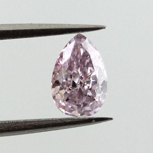 Fancy Pink Purple Diamond, Pear, 0.31 carat, SI2